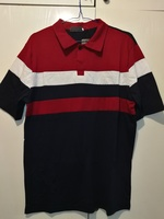 New polo, red and navy blue color