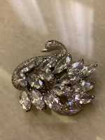 Used Swarovski swan brooch in Dubai, UAE