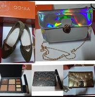 Used Bundle of Ladies Party Shoes,Bag,Makeup in Dubai, UAE