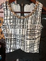 Used Formal top laced hem,Gold chain detail in Dubai, UAE