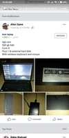 Used acer laptop with wireless keyboard in Dubai, UAE