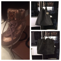 Used MK Shoes And Bag Can Whearing 2 Sides Booth For 600 AED . Delivery Free .  in Dubai, UAE