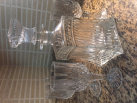 Used Classic Decanter + 3 wine glasses in Dubai, UAE