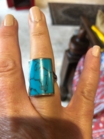 Used Turquoise and sterling silver ring.  in Dubai, UAE