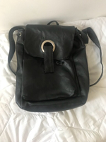 Used Black Leather backpack  in Dubai, UAE