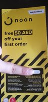 Used Noon coupon 50 DHS 2 pc in Dubai, UAE