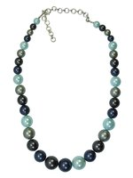 Used Blue shell pearl silver necklace in Dubai, UAE