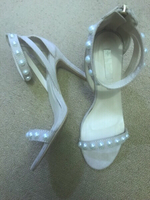 High heels with pearls