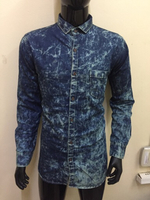 Used Dark blue denim shirt for men in Dubai, UAE