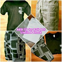 Used Cotton Short and Shirt AED 79 only in Dubai, UAE