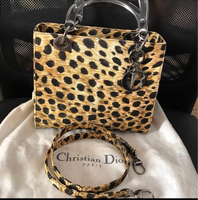 Used Authentic leopard print lady dior bag in Dubai, UAE
