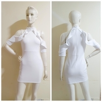 Used White offshoulder party dress/small size in Dubai, UAE
