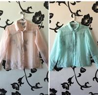 2 Stradivarius Chiffon Shirt New Medium