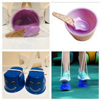 Used Ice cream bowl & stilts in Dubai, UAE