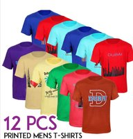 12 pcs cotton dubai themed mens tshirt
