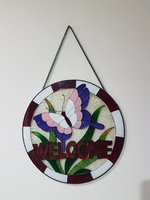 Used Welcome Glass Paint Wall Hanging in Dubai, UAE