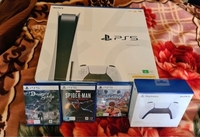 Used PS5 with games and extra controller  in Dubai, UAE