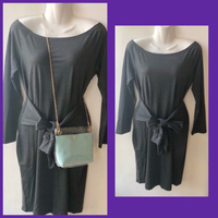 Used Dark Gray Mini Dress & Shoulder Bag in Dubai, UAE