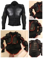 Used MOTORCYCLE PROTECTIVE JACKET / BLACK&RED in Dubai, UAE