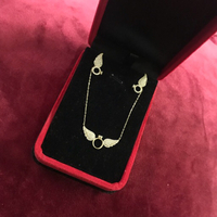 Used 18k real gold angel necklace set  in Dubai, UAE