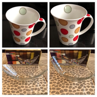 Used cups 6 pcs & 1 Glas bowl  in Dubai, UAE