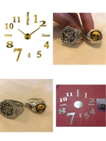 Used STICKER WALL CLOCK AND SILVER RINGS in Dubai, UAE