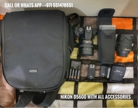 Used Nikon D5600 with 2 lens and all Acc  in Dubai, UAE