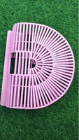 Used Bamboo pink color clutch bag  in Dubai, UAE
