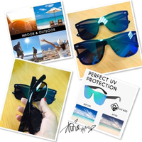 Used 2 pcs Fashion colorful sunglasses  ❤️ in Dubai, UAE