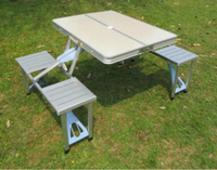 Used Portable Aluminum Folding Picnic table in Dubai, UAE