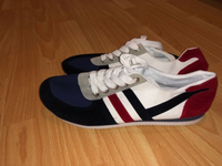 Used Blue Red and white shoes  in Dubai, UAE