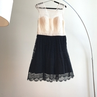 Used Dress Lace black white size M in Dubai, UAE