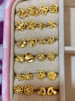 Used 10k Saudi Gold Earrings (1 dozen) in Dubai, UAE