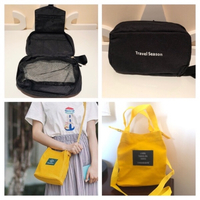 Used Canvas bag yellow & toiletry travel bag in Dubai, UAE