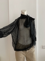 Used Massimo Dutti sheer silktie neck blouse in Dubai, UAE