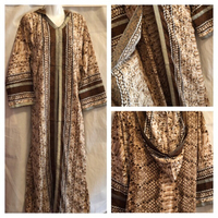 Used Dress with hoody brown M new in Dubai, UAE