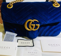 Used Authentic Gucci Marmont Royal Blue small in Dubai, UAE