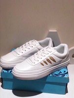 New sports shoes size 40 white with gold