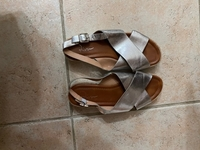 Used Silver sandals from Riva in Dubai, UAE