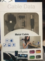 Metal cable for iphone /7/8 white