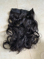 Used Black color hair extension with clips in Dubai, UAE