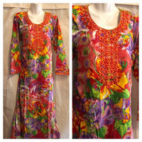 Used  Floral long sleeve dress M in Dubai, UAE