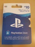 Used PlayStation store wallet top up 10$ in Dubai, UAE