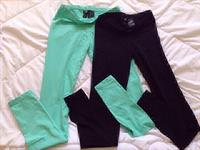 Used Bundle Offer: #2pcs for AED 56 #h&mleggings #pastelgreen #black Sizes #H&M #brandnew #withouttag in Dubai, UAE