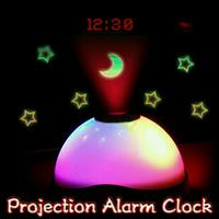 Starry Digital Magic LED Projection Alarm Clock Color Changing Night Light