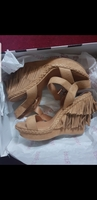 Heels #Brown Khaki#Size 39#New with Box