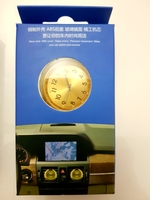 Car Clock Gold Dial. Perfume infuse 4 pc
