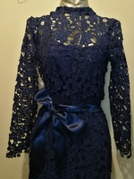 Beautiful navy blue lace dress size S