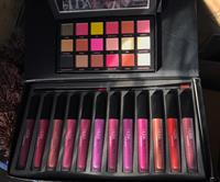 One Set Huda Lipgloss 12 Pieces W 2 Lipliner Pencil Together One Eyeshadow Huda Beauty In 1 Price ! Most Welcome