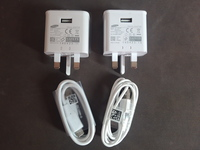 Used Samsung original charger +cable (2 pices in Dubai, UAE